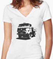 Outta my way Women's Fitted V-Neck T-Shirt