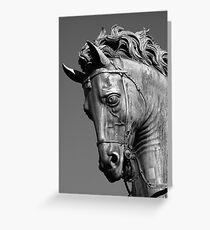 Bronze Horse Greeting Card