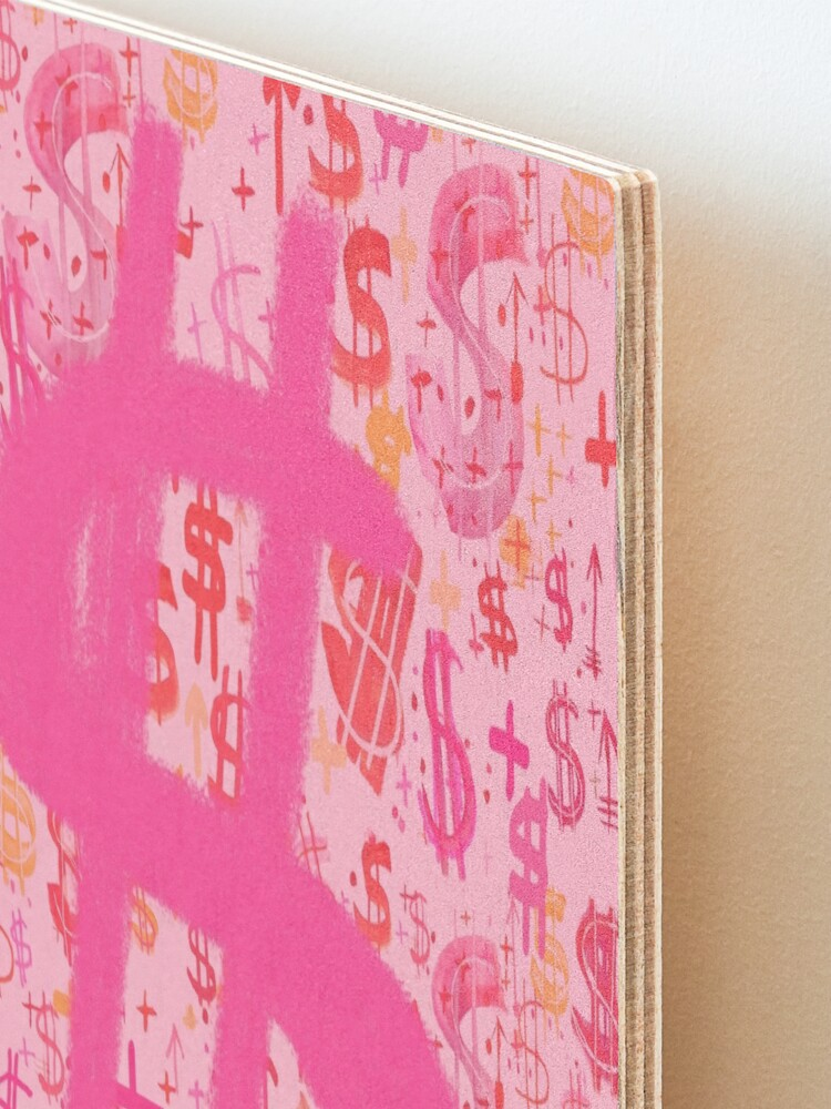 Alternate view of Pink Dollar Signs Mounted Print