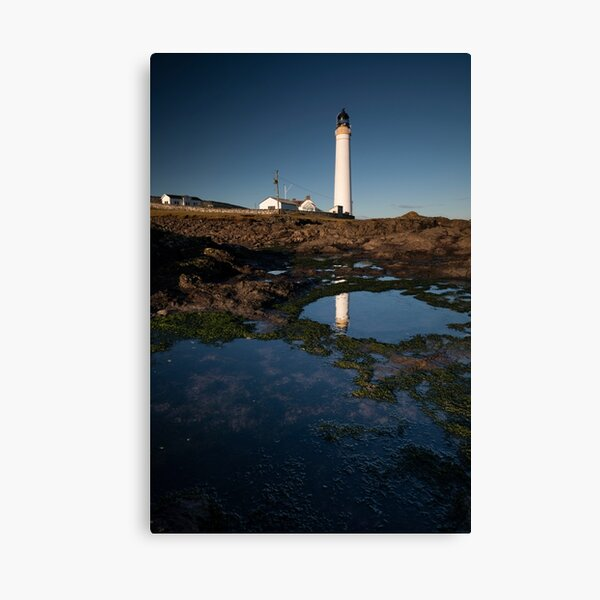 rockpools, scurdie ness lighthouse Canvas Print