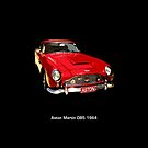 Aston Martin DB5 1964 on black by Neroli Henderson