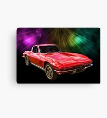 66 Corvette Canvas Print