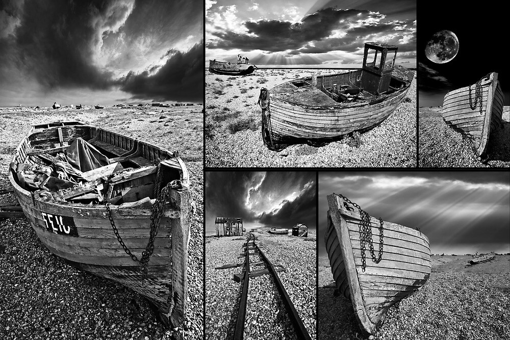 a montage of boat wrecks by meirionmatthias