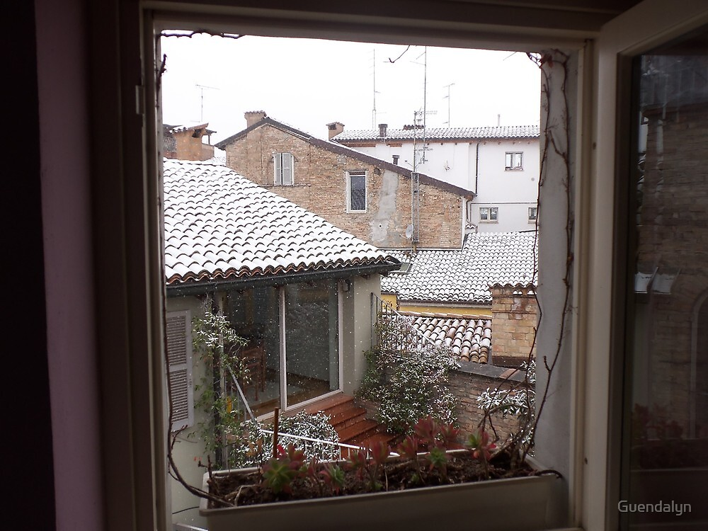 una finestra...un terrazzino sui tetti di parma -Italy-...a window,a  terrace on the rooF of Parma-italy-1200 visualizz 2013--RB EXPLORE 5 FEBBRAIO 2012 --- by Guendalyn