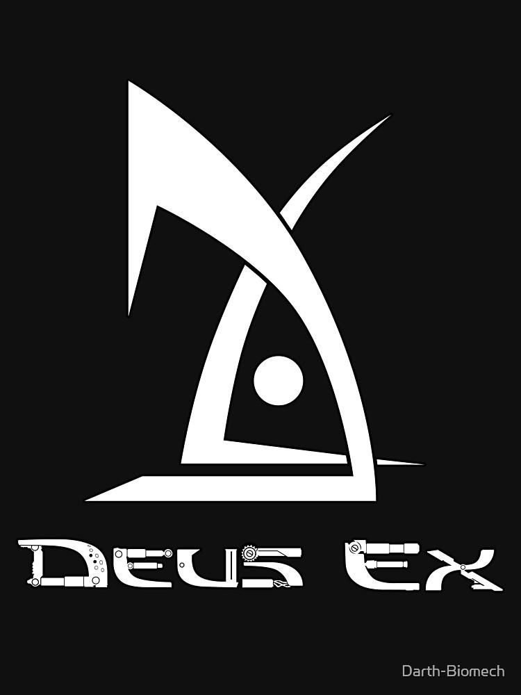 Deus Ex logo white | Unisex T-Shirt