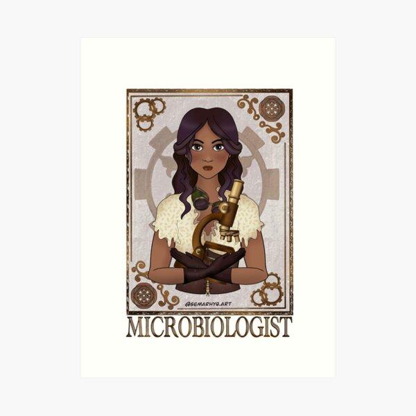 Microbiologist (SteamPunk Art) Art Print