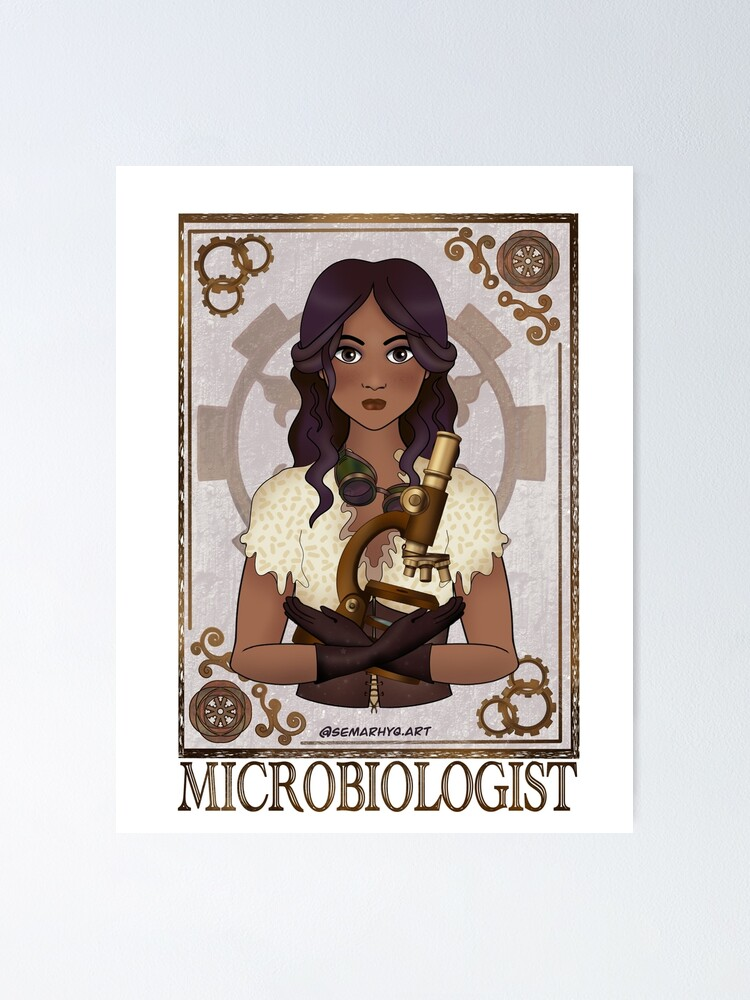 Alternate view of Microbiologist (SteamPunk Art) Poster