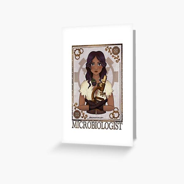 Microbiologist (SteamPunk Art) Greeting Card