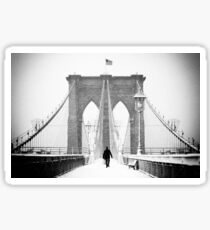 Man on Brooklyn Bridge Sticker