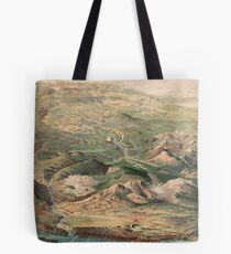 Vintage Pictorial Map of Yellowstone Park (1904) Tote Bag