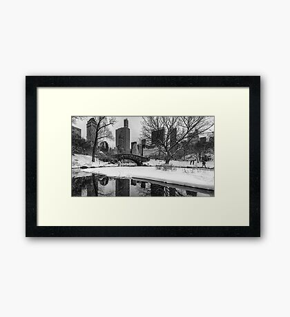 Winter Fun at the Gapstow Framed Print