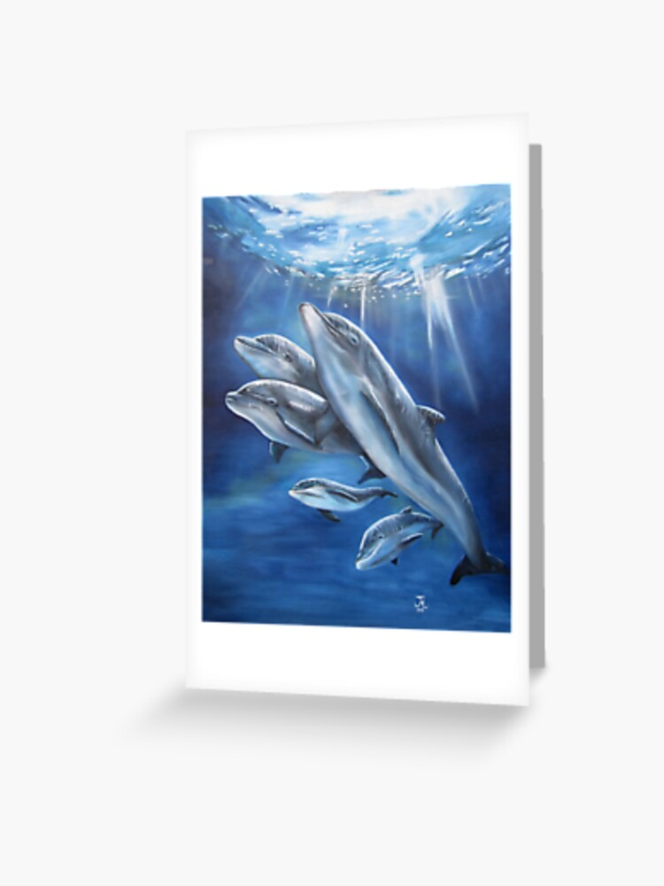 Animal BOTTLENOSE DOLPHIN Sealife 3D Greeting Card Postcard