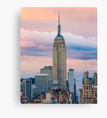 Empire State Cotton Candy Canvas Print