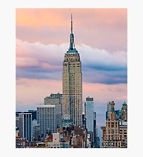 Empire State Cotton Candy Photographic Print