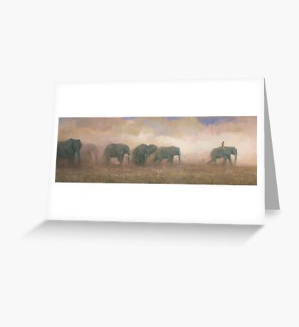 Dust Riders Greeting Card