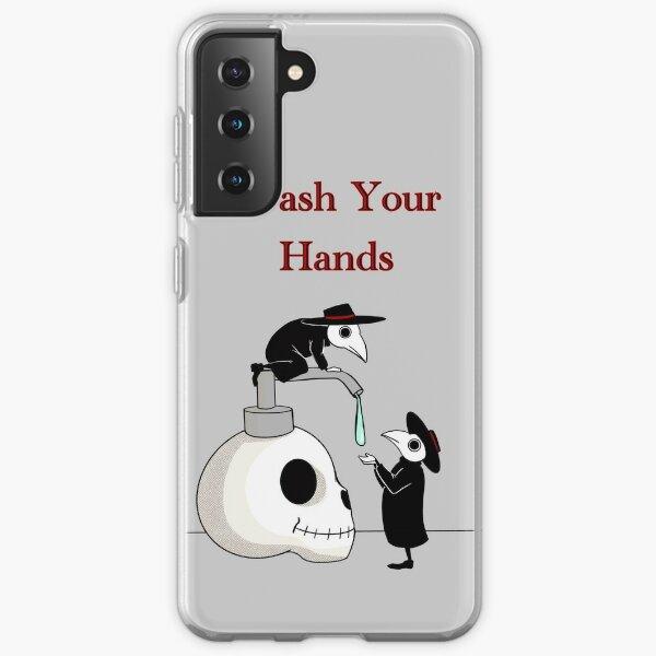 Wash your Hands! Plague doctors.  Samsung Galaxy Soft Case
