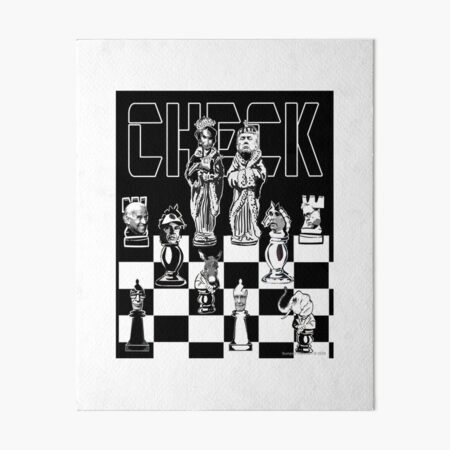 Check Art Board Print