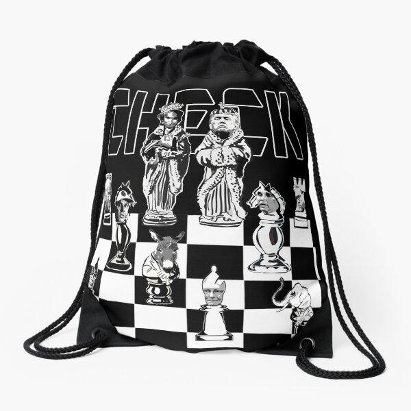Check Drawstring Bag