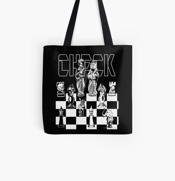 Check All Over Print Tote Bag