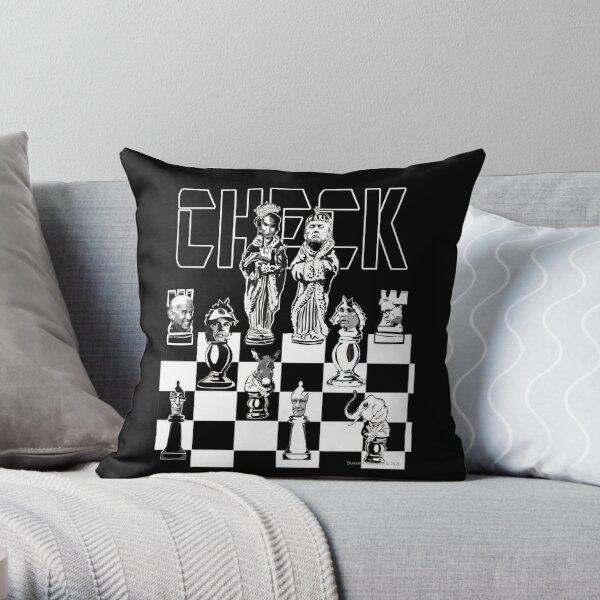 Check Throw Pillow