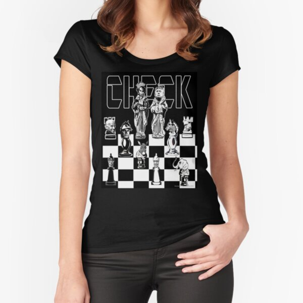 Check Fitted Scoop T-Shirt