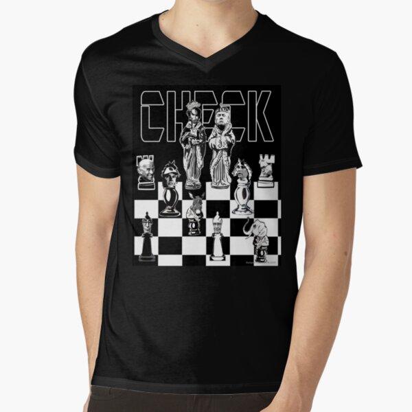 Check V-Neck T-Shirt