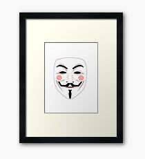 Anonymous mask Framed Print