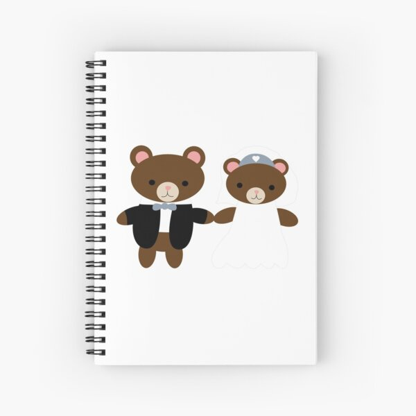 Bear Bride Groom Cute Kawaii Wedding Couple Spiral Notebook
