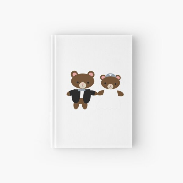 Bear Bride Groom Cute Kawaii Wedding Couple Hardcover Journal
