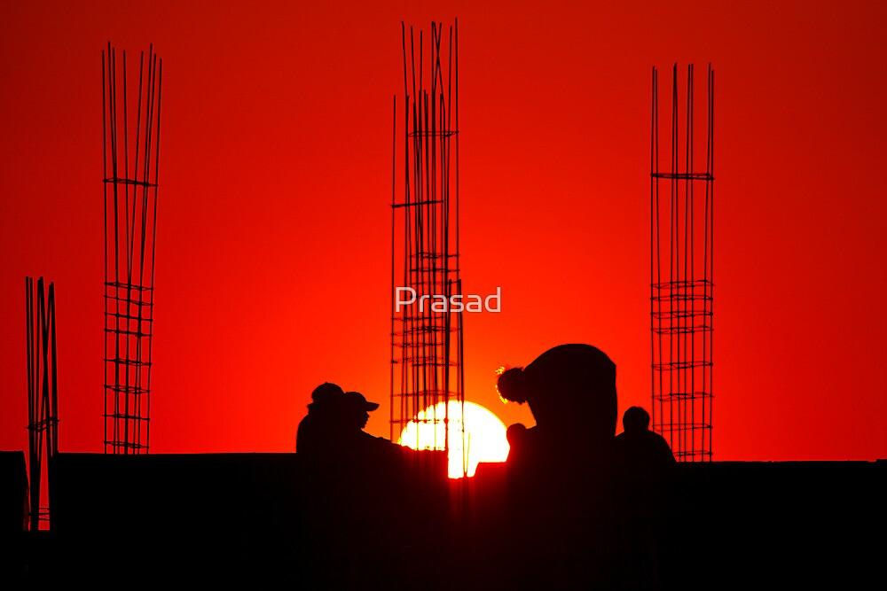 Men at work by Prasad