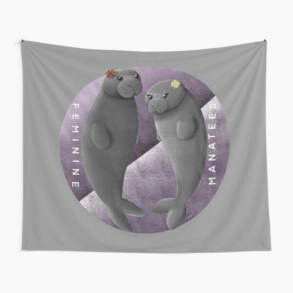 Feminine manatees Tapestry