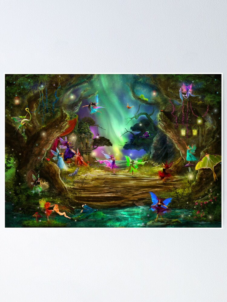 Alternate view of The Dancing Auroras Poster