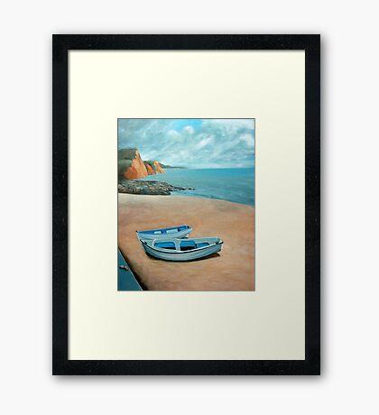 Mevagissey beach Framed Print