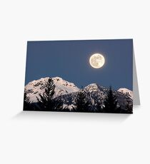 Moon Glow, Whistler Greeting Card