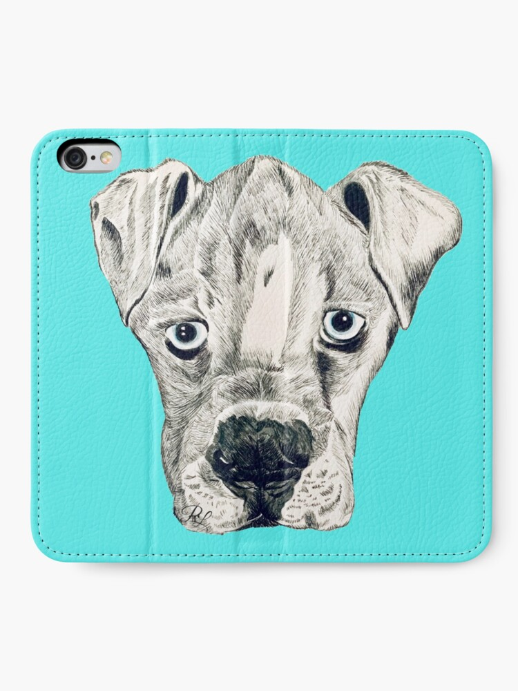 Alternate view of Boxer Puppy Dog iPhone Wallet