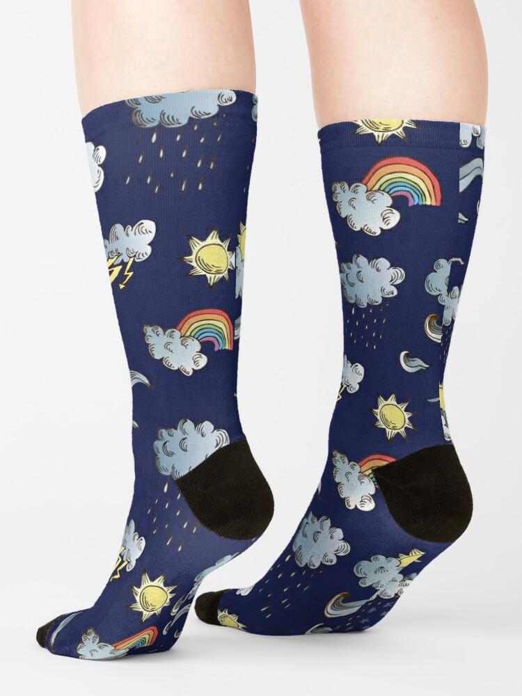 Alternate view of weather symbols Socks