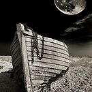 fishing boat graveyard moon by meirionmatthias