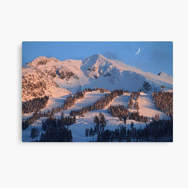 Blackcomb mountain at sunset Canvas Print