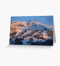 Blackcomb mountain at sunset Greeting Card