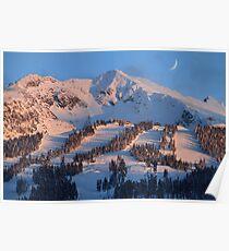 Blackcomb mountain at sunset Poster