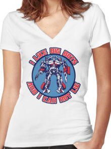 I Like Big Bots Women's Fitted V-Neck T-Shirt