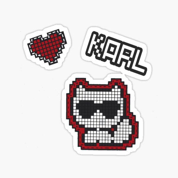 Pixel choupette Sticker