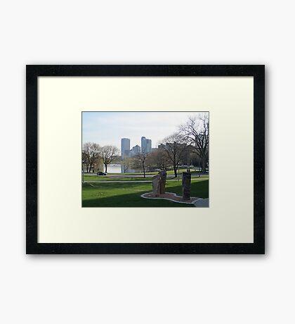 Milwaukee Skyline Cityscape Framed Print