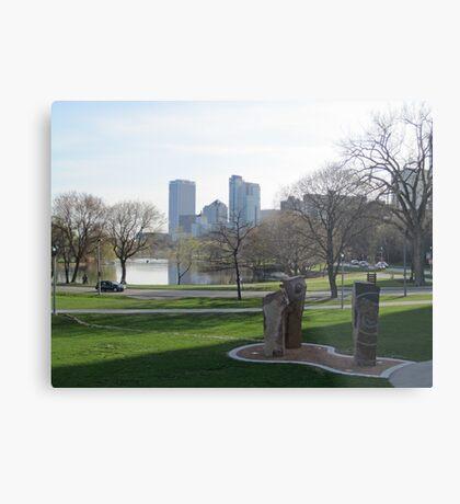 Milwaukee Skyline Cityscape Metal Print