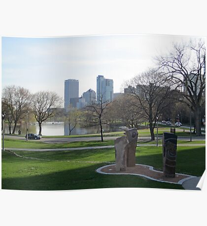 Milwaukee Skyline Cityscape Poster