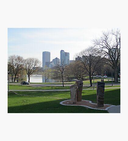 Milwaukee Skyline Cityscape Photographic Print
