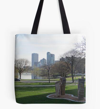 Milwaukee Skyline Cityscape Tote Bag