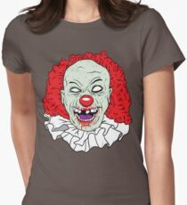 Zombie clown Womens Fitted T-Shirt