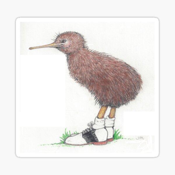 Kiwi in saddle shoes Sticker
