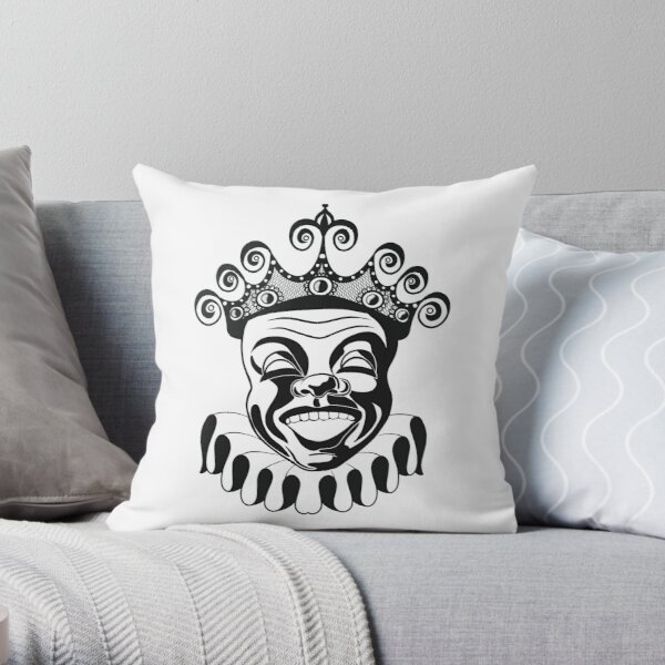 King of the clowns Throw Pillow